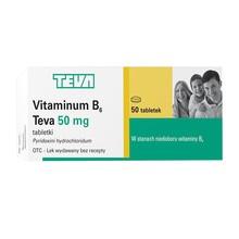 Vitaminum B6, 50 mg, tabletki, 50 szt.