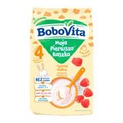 BoboVita Moja Pierwsza Kaszka, kaszka ryżowa, malina, bez cukru, 4 m+, 180 g