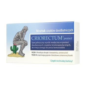 Criorectum Protect, czopki przeciw hemoroidom, 10 szt.