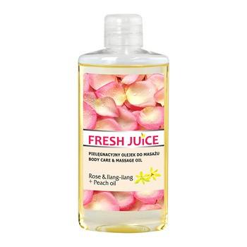Fresh Juice, pielęgnacyjny olejek do masażu, Rose & Ilang-ilang + Peach oil, 150 ml