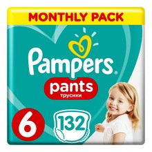 Pampers Pants 6, pieluchomajtki dla dzieci (15+ kg), 132 szt.