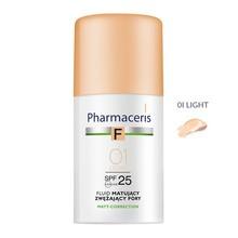 Pharmaceris F, fluid matujący, zwężający pory, Light 01, SPF 25, 30 ml
