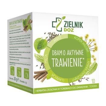 ZIELNIK DOZ Dbam o aktywne trawienie, herbatka ziołowa, 2 g, 10 saszetek