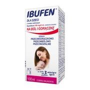 Ibufen dla dzieci o smaku malinowym (100 mg/5 ml), zawiesina doustna, 100 ml