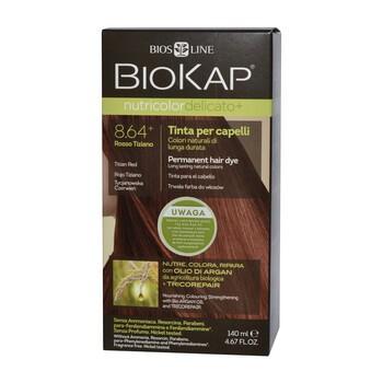 Biokap Nutricolor Delicato+, farba do włosów, 8.6 tycjanowa czerwień, 140 ml