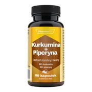 Kurkumina + Piperyna, kapsułki, 90 szt.