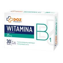DOZ PRODUCT Witamina B1, tabletki powlekane, 30 szt.