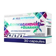 Allnutrition Ashwagandha+guarana, kapsułki, 30 szt.