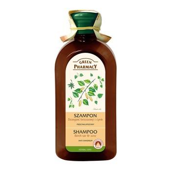 Green Pharmacy, szampon przeciwłupieżowy z dziegciem i cynkiem, 350 ml
