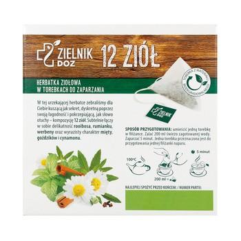 ZIELNIK DOZ 12 ziół, herbatka ziołowa, 2 g, 20 szt. (edycja limitowana)