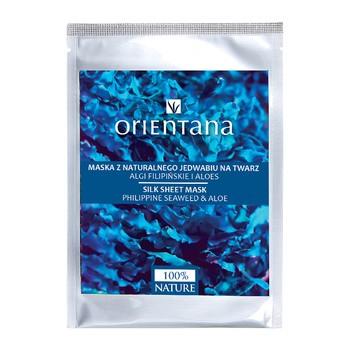 Orientana, maska z naturalnego jedwabiu na twarz, algi filipińskie i aloes, 1 szt.