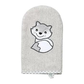 Baby Ono, myjka do kąpieli, bambusowa, szara, 1 szt.
