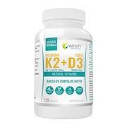 Wish Witamina K2 MK-7 + D3 50 µg, tabletki, 120 szt.