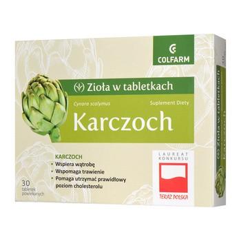 Karczoch, tabletki powlekane, 30 szt.