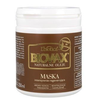 Biovax Naturalne Oleje, intensywnie regenerująca maseczka do włosów, 250 ml