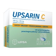 Upsarin C, 330 mg + 200 mg, tabletki musujące, 20 szt.