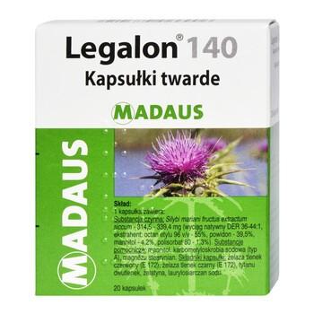 Legalon, 140 mg, kapsułki, 20 szt.