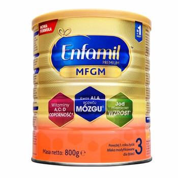Enfamil Premium MFGM 3 mleko modyfikowane, następne, w proszku, 800 g