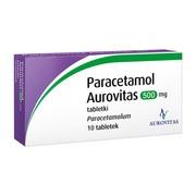 Paracetamol  Aurovitas, 500 mg, tabletki, 10 szt.