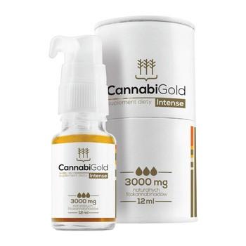CannabiGold Intense 3000 mg, krople, 12 ml