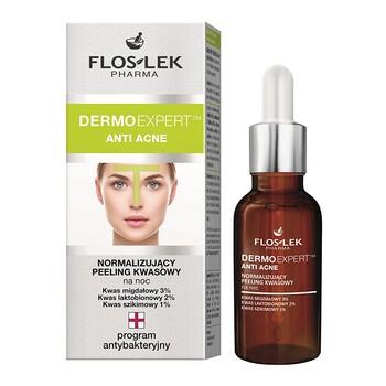 FlosLek Pharma Dermoexpert, Anti Acne, normalizujący peeling kwasowy, 30ml