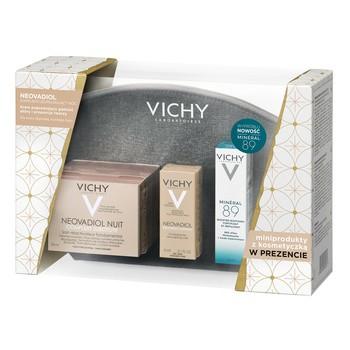 Zestaw Promocyjny Vichy, krem Neovadiol Noc, 50 ml + Mineral 89, 10 ml + Neovadiol, skóra sucha, 3 ml + kosmetyczka