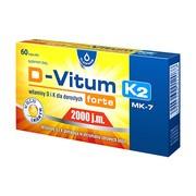 D-Vitum Forte 2000 j.m. K2 MK-7, witaminy D i K dla dorosłych forte, kapsułki, 60 szt.