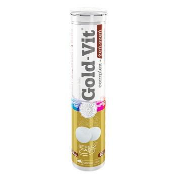 Olimp Gold-Vit Complex + Żeń-szeń, tabletki musujące, smak pomarańczowy, 20 szt.