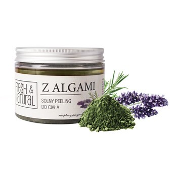 Fresh&Natural, solny peeling do ciała z algami, 550 g