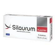 Silaurum, plastry silikonowe na blizny, 10 cm x 3 cm, 6 szt.