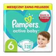 Pampers Active Baby 6, (13-18 kg), pieluszki jednorazowe, 128 szt.