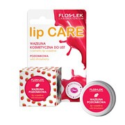 FlosLek Laboratorium Lip Care, wazelina kosmetyczna do ust, poziomkowa, 15 ml