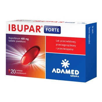Ibupar forte, 400 mg, tabletki powlekane, 20 szt.