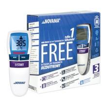 Termometr Novama Free, NT17, bezdotykowy, white frost, 1 szt.