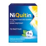 Niquitin, 4 mg, pastylki do ssania, smak miętowy, 72 szt.