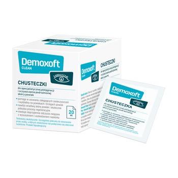 Demoxoft Clean, chusteczki do specjalistycznej higieny powiek, 20 szt.