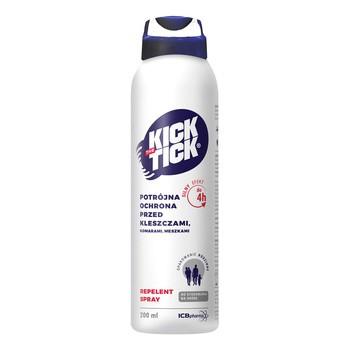 Kick the Tick Max Repelent Plus, aerozol przeciw komarom, kleszczom, 200 ml
