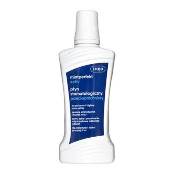 Ziaja Mintperfekt Activ, płyn stomatologiczny przeciwpróchniczy, 500 ml