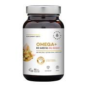 Omega + Witamina D3 400 IU dla dzieci, kapsułki miękkie, 60 szt.