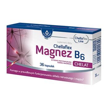 Chellaflex Magnez B6, kapsułki, 36 szt.