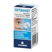 Oftahist, 1 mg/ml, krople do oczu, 5 ml (1 butelka)