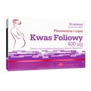 Olimp Kwas foliowy, 400 µg, tabletki, 30 szt