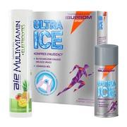 Zestaw na urazy dla biegaczy (spray + kompres + witaminy)