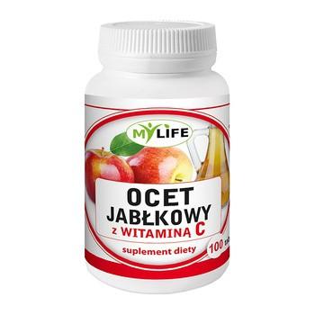 Ocet jabłkowy z witaminą C, tabletki, 100 szt.