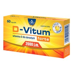 D-Vitum Forte 2000 j.m., kapsułki z witaminą D dla dorosłych, 60 szt.