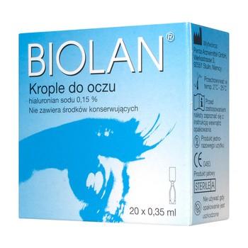 Biolan 0,15%, krople do oczu, 0,35 ml, 20 minimsów