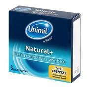 Unimil Natural+, prezerwatywy lateksowe, 3 szt.