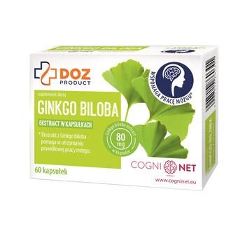 DOZ PRODUCT Ginkgo Biloba, kapsułki twarde, 60 szt.