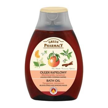 Green Pharmacy, olejek do kąpieli z mandarynką i cynamonem, 250 ml
