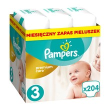 Pampers Premium Care 3, (5-9kg), 204 szt.